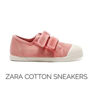 Zara Girls Pink Cotton Sneakers